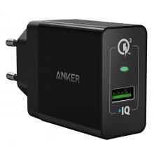 Adapter Sạc 1 Cổng Anker PowerPort+ 18W Tích Hợp PowerIQ Hỗ Trợ Sạc Nhanh QC 3.0 - A2013